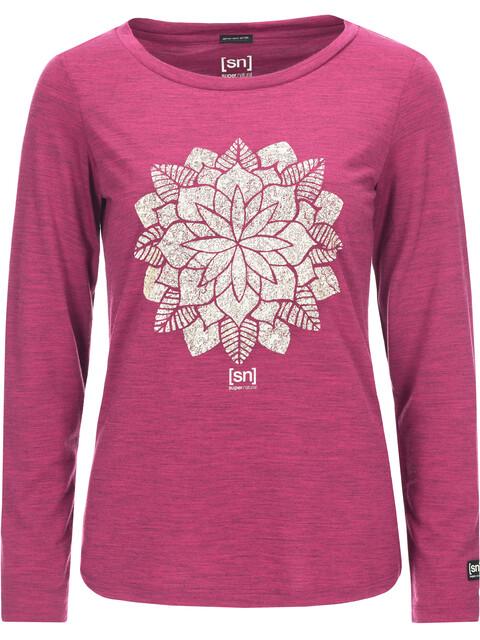 super.natural W's Graphic LS Shirt Mandala Print